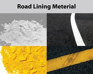 mixer for road lining material mix