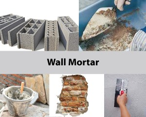 mixer for wall  mortar mix